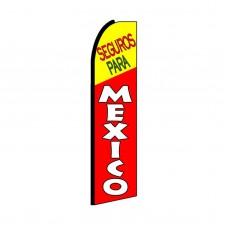 Seguros Para (Insurance) Mexico Swooper Flag