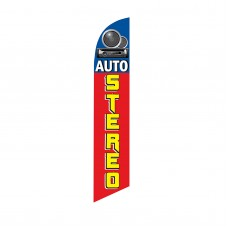 Auto Stereo Red Yellow Blue Swooper Flag