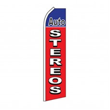 Auto Stereos Red Blue Swooper Flag