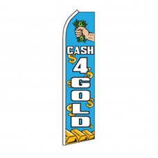 Cash For Gold Blue Swooper Flag