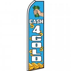 Cash For Gold Blue Swooper Flag