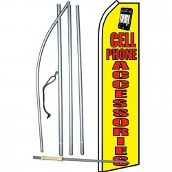 Cell Phone Accessories Yellow Swooper Flag Bundle
