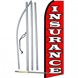 Insurance Red Swooper Flag Bundle