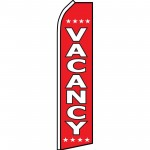 Vacancy Red Swooper Flag