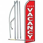 Vacancy Red Swooper Flag Bundle