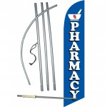 Pharmacy Blue Windless Swooper Flag Bundle
