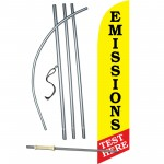 Emissions Test Here  Windless Swooper Flag Bundle