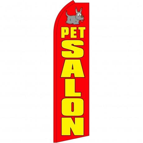 Pet Salon Red Swooper Flag
