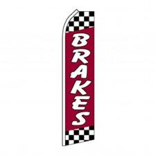 Brakes Red Swooper Flag