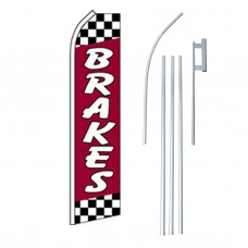 Brakes Red Swooper Flag Bundle