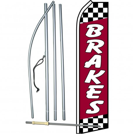 Brake Special 15/' Feather Banner Swooper Flag Kit with pole+spike