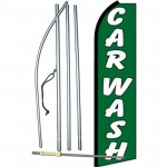 Car Wash Green Swooper Flag Bundle