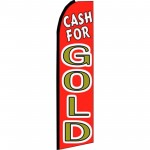 Cash For Gold Red Swooper Flag