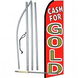 Cash For Gold Red Swooper Flag Bundle