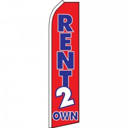 Rent 2 Own Red Swooper Flag