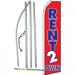 Rent 2 Own Red Swooper Flag Bundle