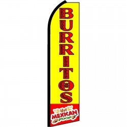Burritos Hot Mexican Swooper Flag