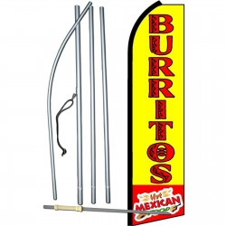 Burritos Hot Mexcian Swooper Flag Bundle