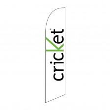 Cricket White & Green Swooper Flag
