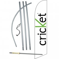 Cricket White & Green Swooper Flag Bundle