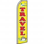 Travel Yellow Swooper Flag