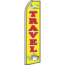 Travel Yellow Swooper Flag