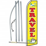 Travel Yellow Swooper Flag Bundle