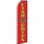 Fish & Chips Red Yellow Swooper Flag