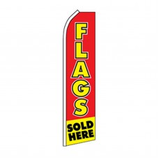 Flags Sold Here Yellow Red Swooper Flag