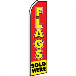 Flags Sold Here Red Yellow Swooper Flag