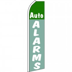 Auto Alarms Blue Green Swooper Flag