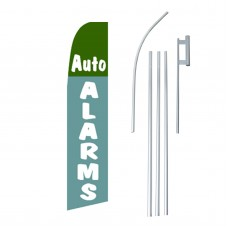 Auto Alarms Blue Green Swooper Flag Bundle