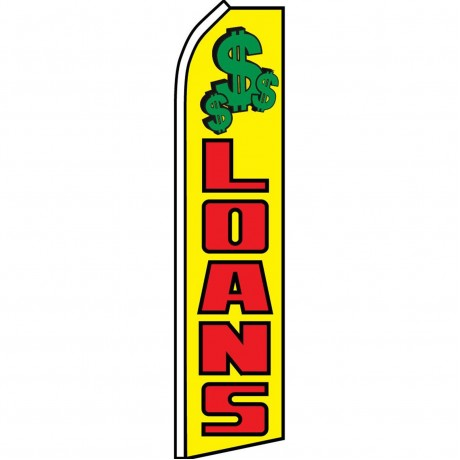 Loans Yellow/Red Swooper Flag
