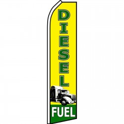 Diesel Fuel Yellow Swooper Flag
