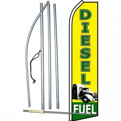 Diesel Fuel Yellow Swooper Flag Bundle