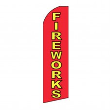 Fireworks Swooper Flag