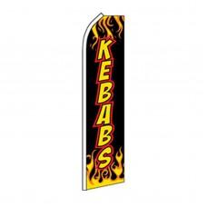 Kebabs Flames Swooper Flag