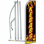 Kebabs Flames Swooper Flag Bundle