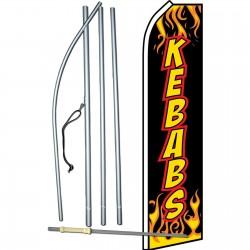 Kebabs Flames Swooper Flag Bundle