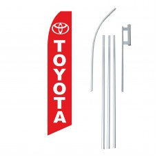 Toyota Red Swooper Flag Bundle