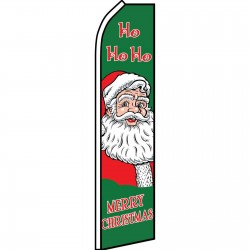 Merry Christmas Ho Ho Ho Swooper Flag