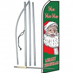 Merry Christmas Ho Ho Ho Swooper Flag Bundle