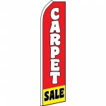Carpet Sale Red Yellow Swooper Flag