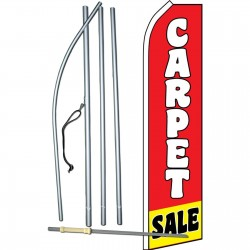 Carpet Sale Red Yellow Swooper Flag Bundle