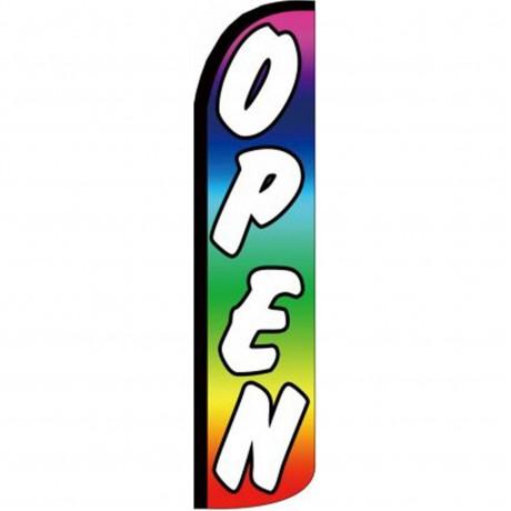 Open Rainbow Windless Swooper Flag