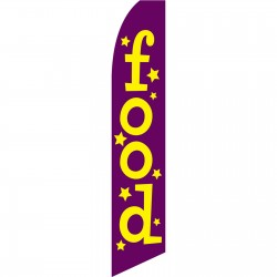 Food Purple Swooper Flag
