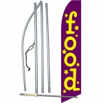 Food Purple Yellow Swooper Flag Bundle