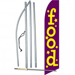 Food Purple Swooper Flag Bundle
