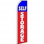 Self Storage Red Blue Swooper Flag