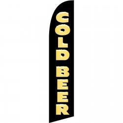 Cold Beer Black Windless Swooper Flag